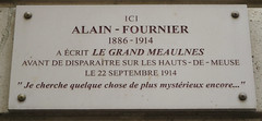 Photo of Alain-Fournier marble plaque