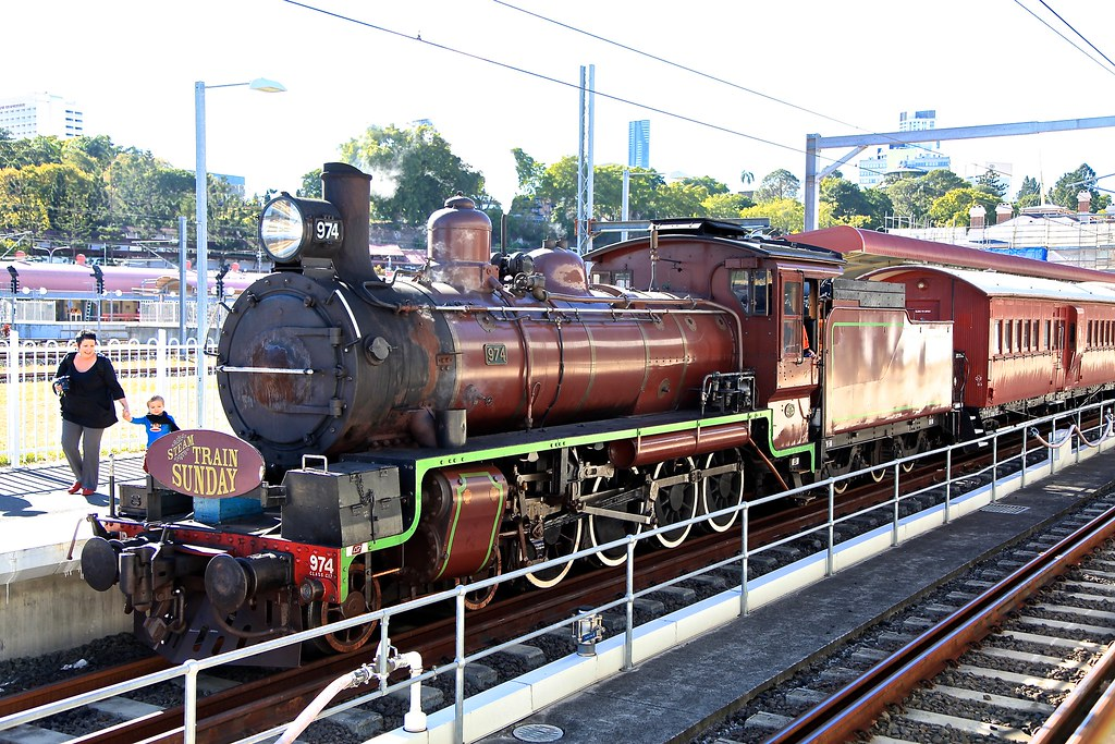 Number 974 C17, Roma Street Station, Brisbane by Lance #