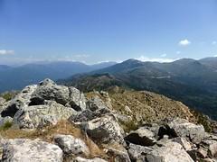 Sommet de Punta di I Cavalletti : la crête vers le Nord et le col de la Vaccia