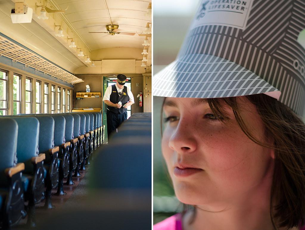 train collage