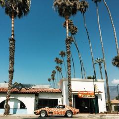 Pepperoni pizza car. Carpinteria, CA.