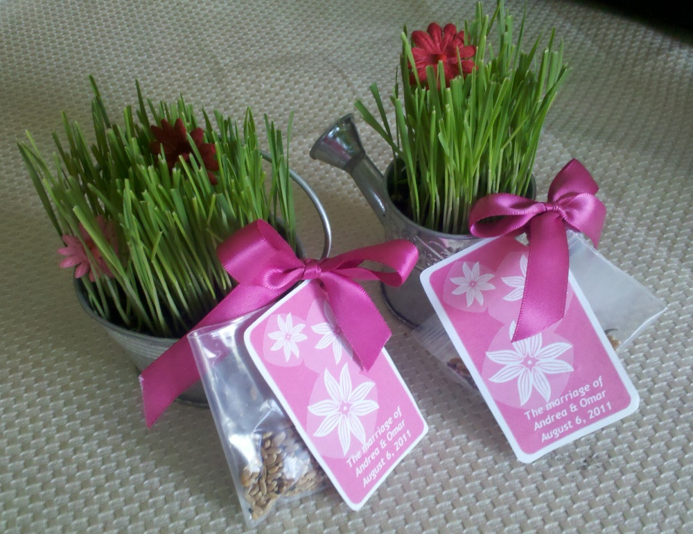 wedding favor flower seeds
