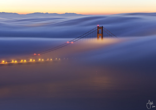 Red Dawn - Golden Gate Bridge, San Francisco, CA