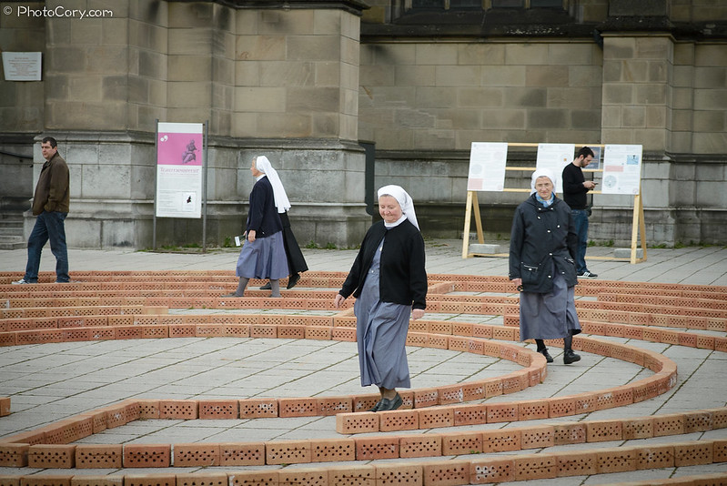 Nuns in the Maze in Linz, Austria