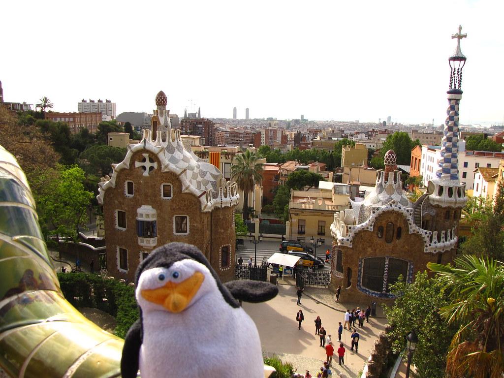 Skipper visiting Barcelona!, for more Skipper see: http://www.travelbuddiesaroundtheworld.com/skipper