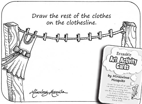 Clothesline - art activity cards by Miraculous Mosquito