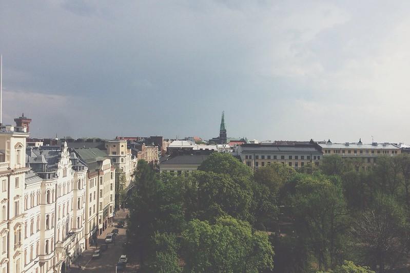 Helsinki bird eye view