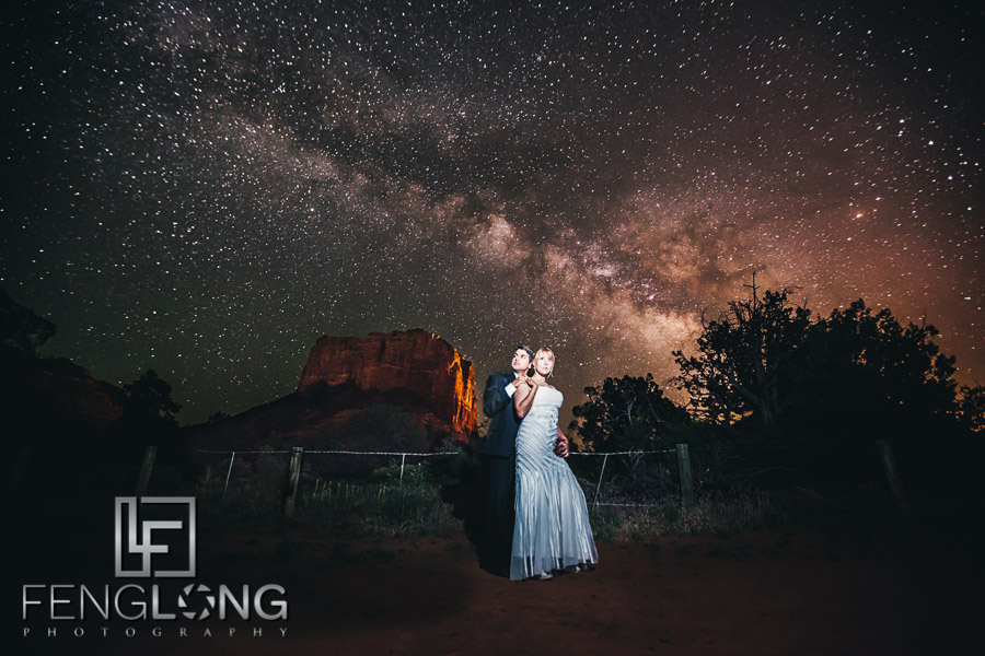 Ashley & Gaurav's Wedding in Sedona, Arizona 5/20/12 | Milky Way Wedding Photo Re-Visited for Blog