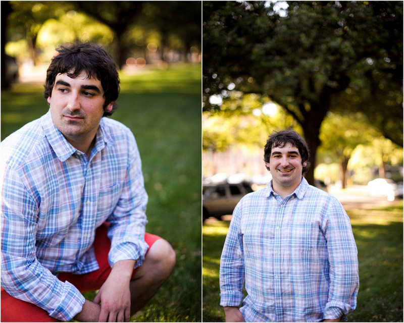 Patrick's college senior portraits