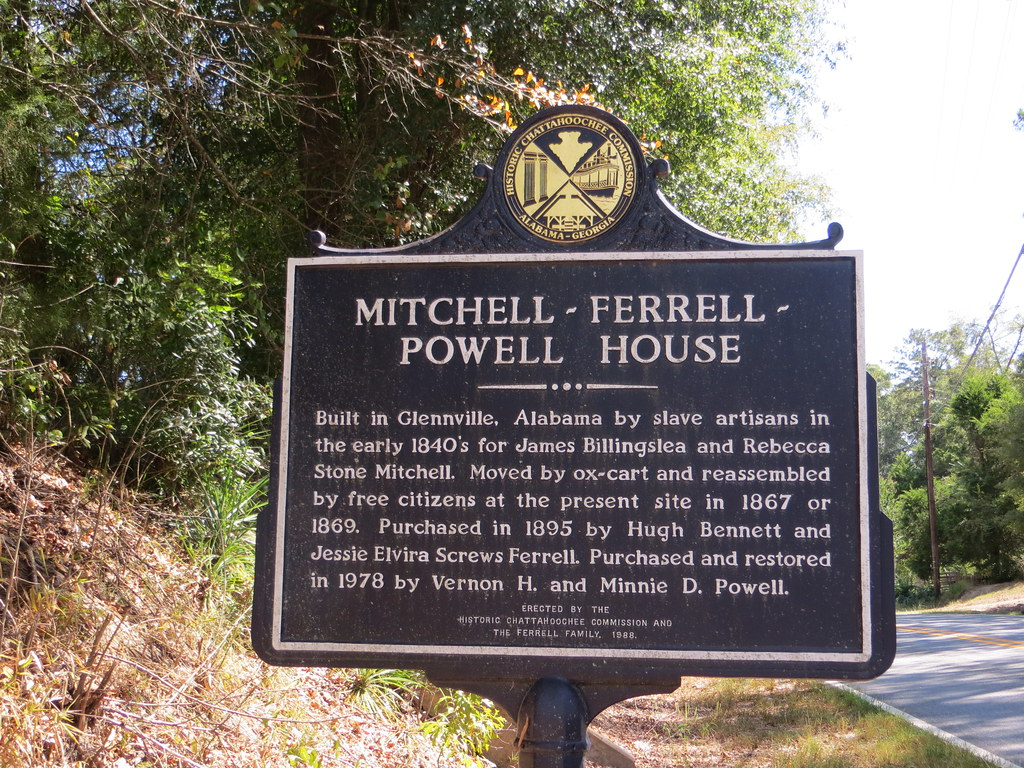 Alabama russell county hatchechubbee - Mitchell Ferrell Powell House Marker Russell Co Al