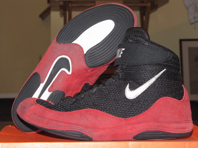 Black Nike Inflict Wrestling Shoes