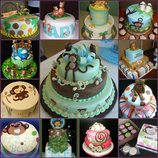 5888037994 861048cc30 - Baby shower cakes monkey theme ...