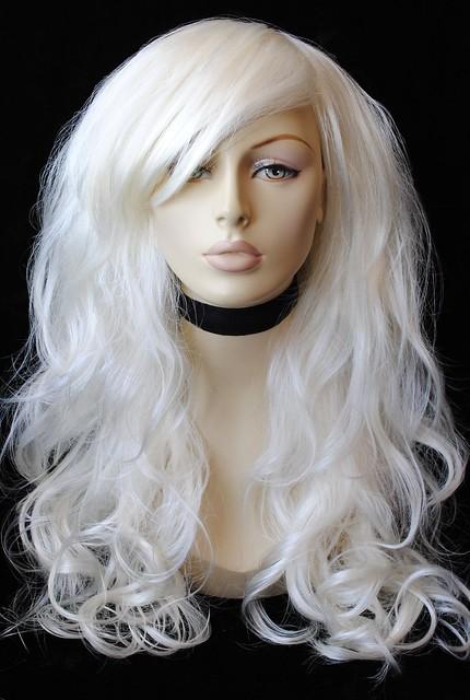 Real Hair Platinum Blonde Wig 46