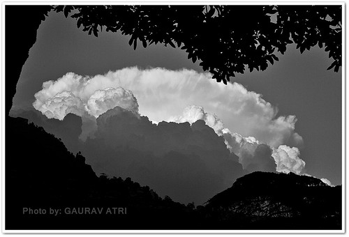 blackandwhite bw india nature clouds mussoorie uttarakhand mygearandme blackwhitephotosofindia mussoorie2011