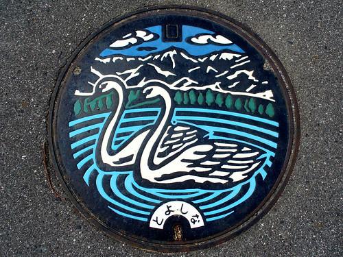 Toyoshina Nagano manhole cover(長野県豊科町のマンホール)
