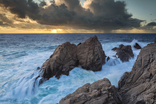 ocean sunset seascape nature landscape monterey pacific scenic bigsur carmel thunderstorm pointlobos carmelbythesea pinnaclerock pointlobosstatereserve pinnaclecove