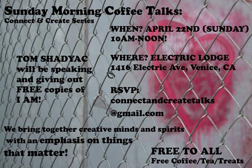 Sunday Morning Coffee Talks Venice