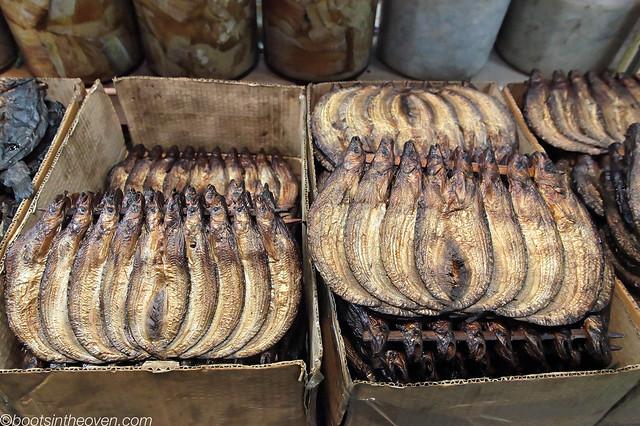 Smoked preserved fish