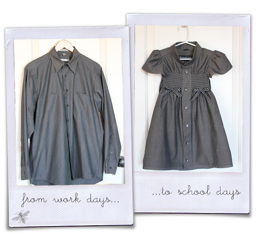 Girl. Inspired._ his work shirt to her school dress