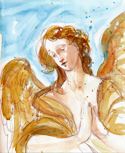 North Carolina Museum of Art: polychrome angel, Bavaria, 18th century
