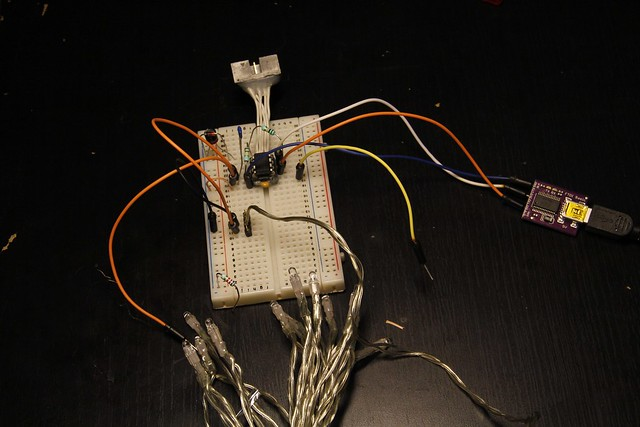 Prototype version with Christmas lights