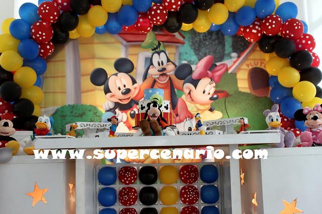 decoracao festa mickey : decoracao festa mickey:Decoração Clean Festa Infantil Turma do Mickey