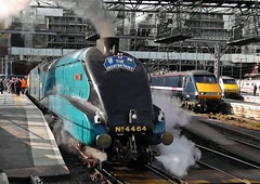 LNER A4 Class 4-6-2 Steam Locomotive No. 4464 'Bittern' At London Kings Cross With 'The Great Britain V' Railtour' - 21st April 2012.