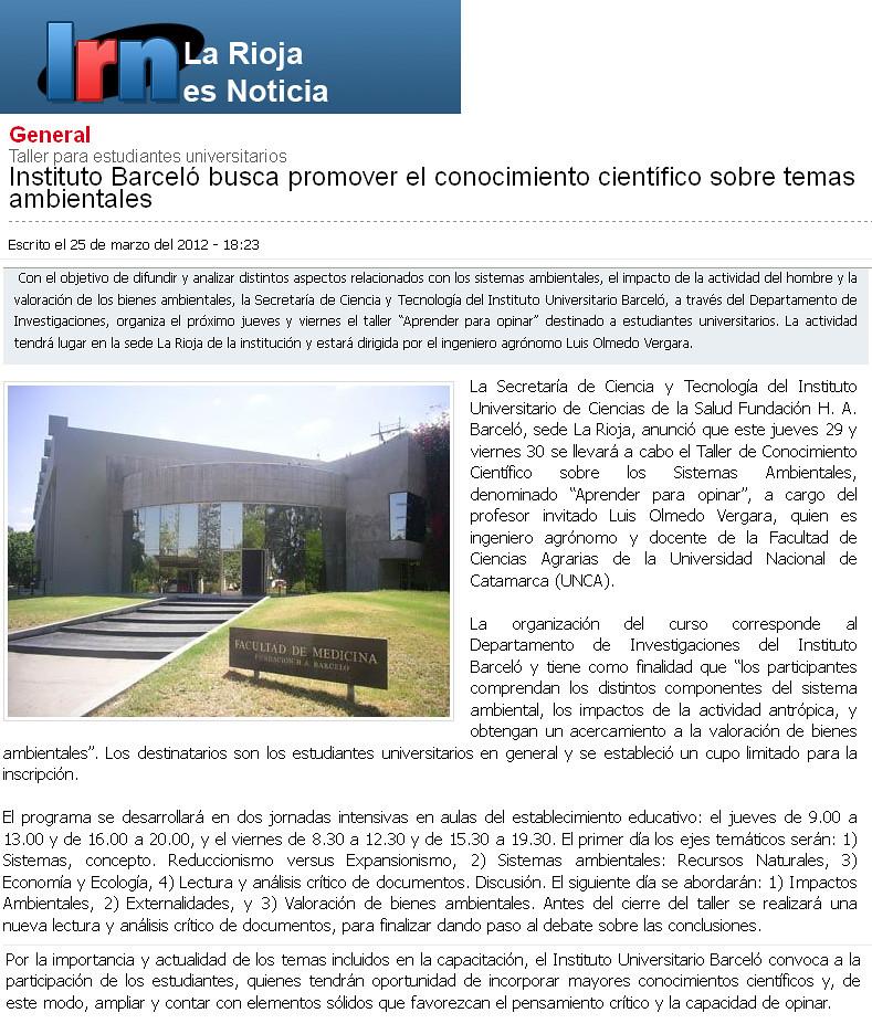La Rioja es Noticia - Taller de conocimiento Científico - 23.03.2012