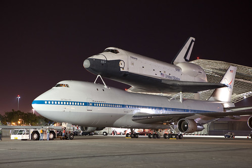 Demating Enterprise (OV101) from the SCA at JFK