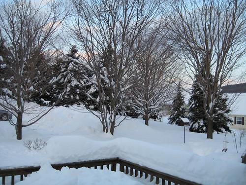 snow sunrise stalbans