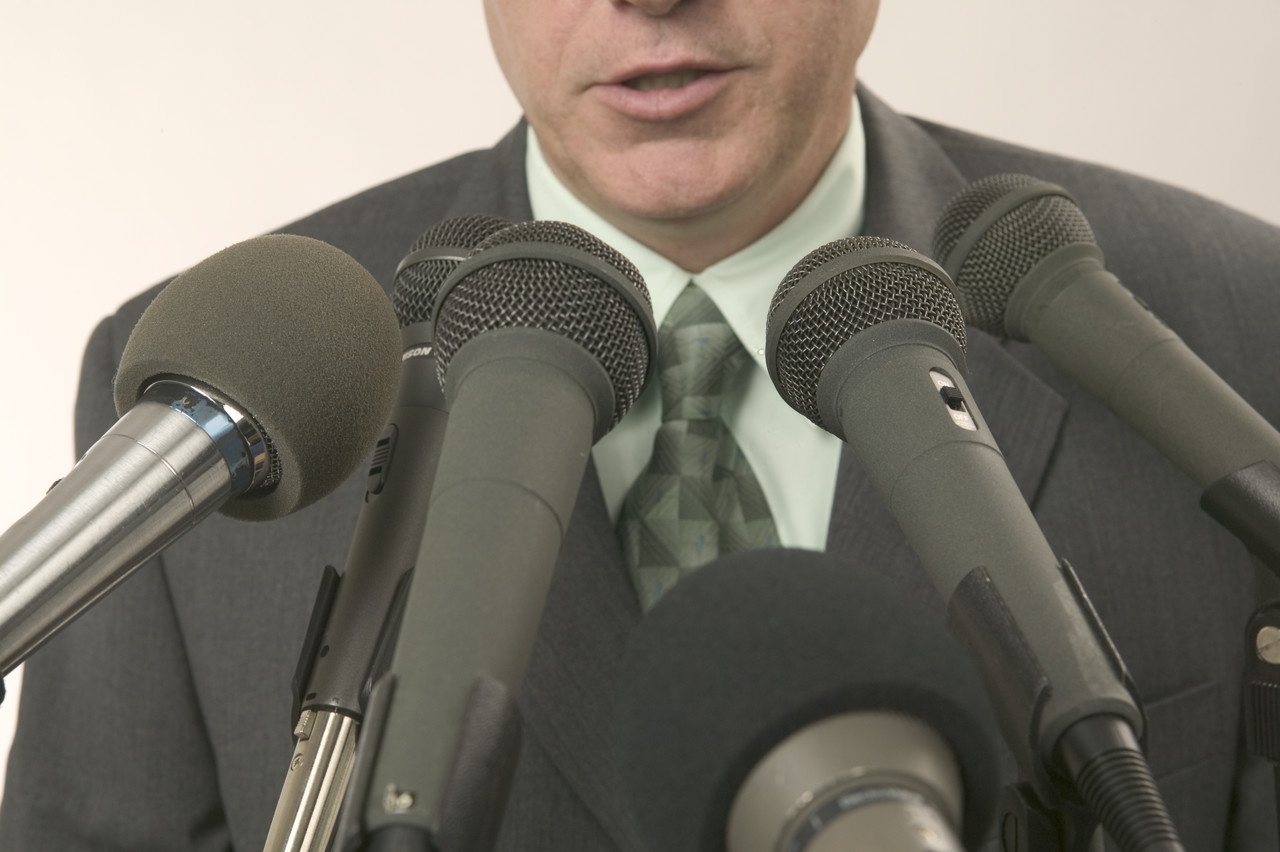 Speaker With A Lot Of Microphones Flickr Photo Sharing