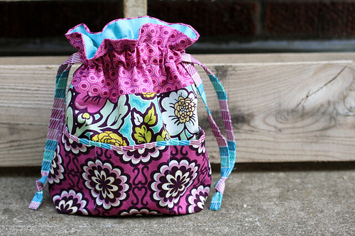In Color Order Lined Drawstring Bag Pocket Tutorial Delectable Drawstring Bag Pattern