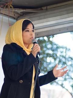 Najeeba speaking at Walk Together Sydney | Refugee Week 2012 | Restoring Hope