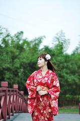 clothing, red, kimono, woman, fashion, female, photo shoot, lady, costume, spring, beauty,