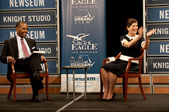Luci Baines Johnson With SiriusXMs Joe Madison