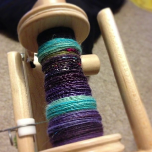 Dyed blended rolled spun #rolags