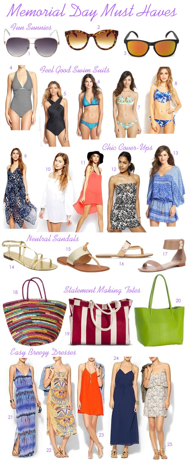 Memorial Day Must Haves on Living After Midnite #SummerStyle #SummerHoliday #SummerVacation