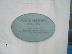Photo of Paul Henry green plaque