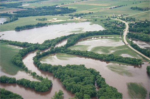 Flooded cropland that eventually became Nygren Wetland Preserve. Natural Land Institute photo.