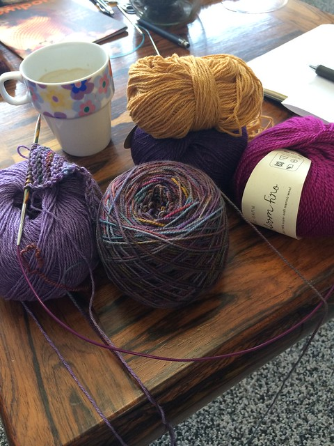 My yarn choices for the SW summer shawl KAL