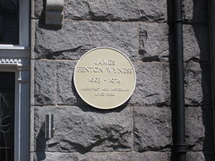 Photo of James Fenton Wyness yellow plaque