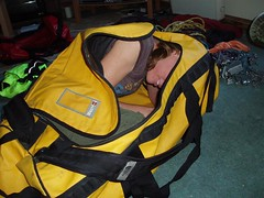 Packing Helen ready for our Holiday Image