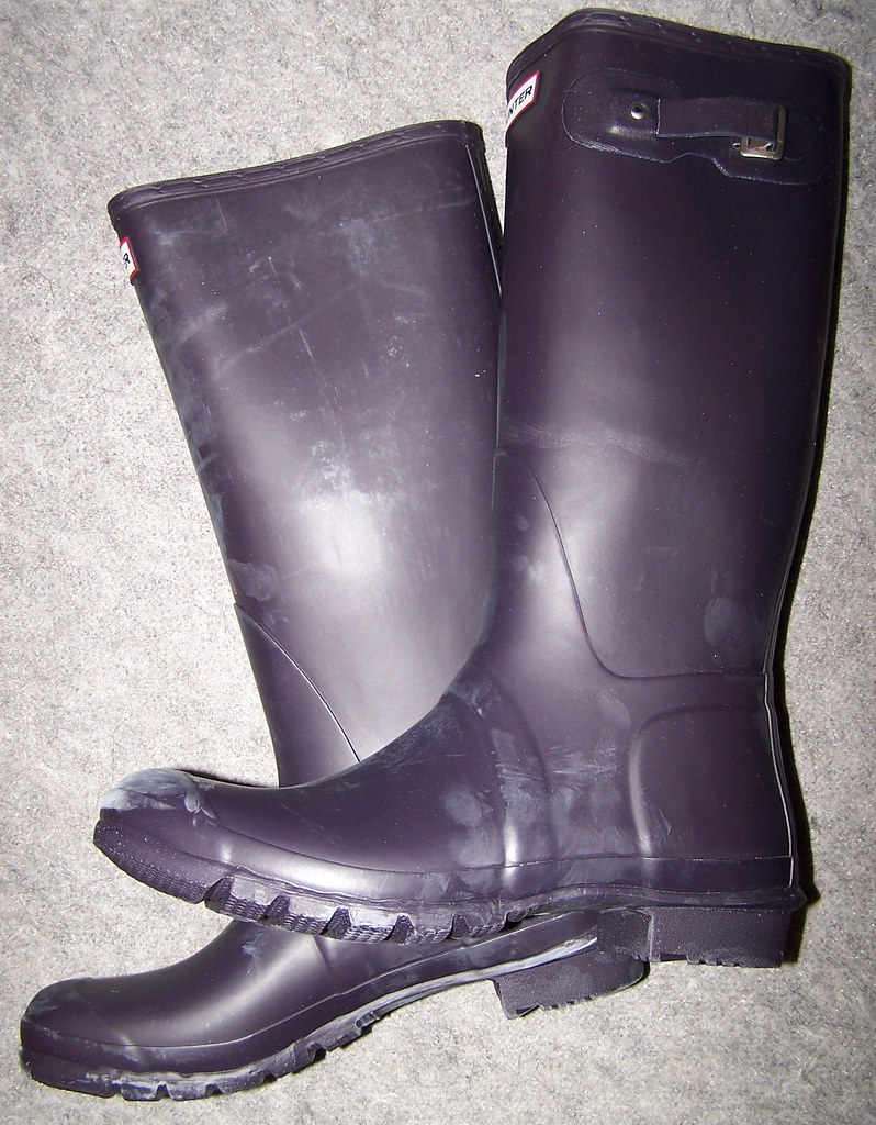 huge discount dc0fc e0b9f HUNTER tall aubergine | ganze normale HUNTERs Gummistiefel ...