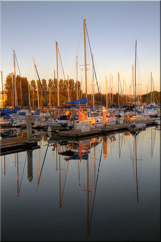 city light creek marina sunrise reflections dawn golden harbor pier day flag clear solstice 100views sail redwood sailboats masts blvd seaport 1315