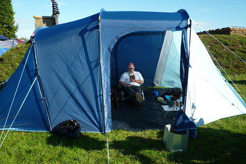 For a bit more luxury (and a much longer pitch time) we use a Coleman Lakeside 4 & Tents?