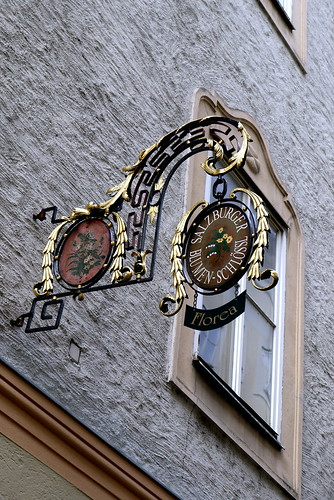 Getreidegasse, Salzburg 格特萊德街 薩爾斯堡