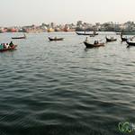 Rowboats Transporting Passengers to Sadarghat - Dhaka, Bangladesh
