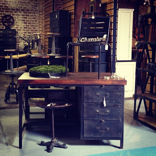 Custom industrial desk