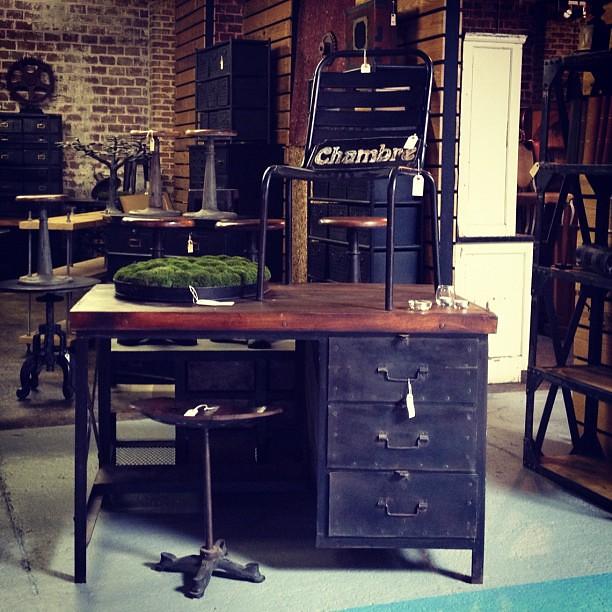 Custom industrial desk