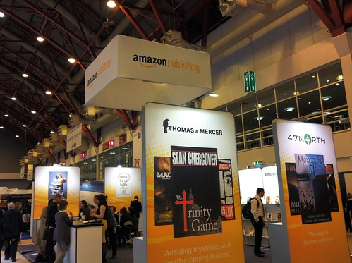 Amazon publishing stand at London book fair